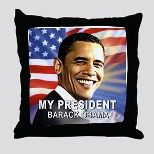 My President (Flag) Throw Pillow