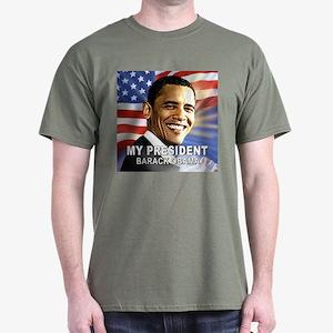 My President (Flag) Dark T-Shirt