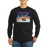 XmasSunrise/2 Dachshunds Long Sleeve Dark T-Shirt