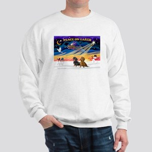 XmasSunrise/2 Dachshunds Sweatshirt