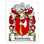 Kaminsky Family Crest Small Poster