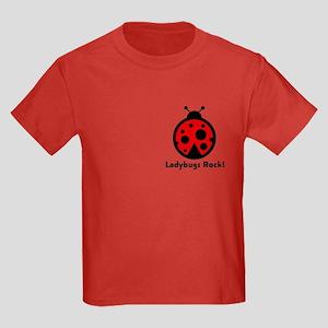 Ladybugs Rocks! Kids Dark T-Shirt