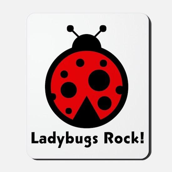 Ladybugs Rocks! Mousepad