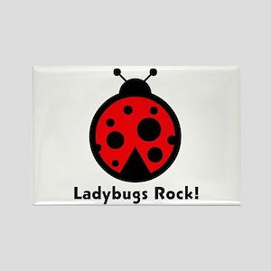 Ladybugs Rocks! Rectangle Magnet