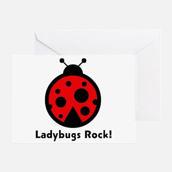 Ladybugs Rocks! Greeting Card