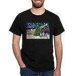 XmasMagic/2 Border Collies Dark T-Shirt