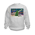 XmasMagic/2 Border Collies Kids Sweatshirt