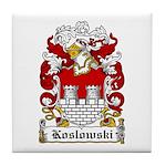 Koslowski Family Crest Tile Coaster