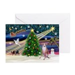Xmas Magic & Whippet Greeting Cards (Pk of 10)