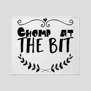 Chomp at the bit Throw Blanket