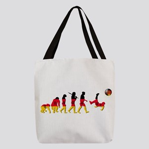 German Football Evolution Polyester Tote Bag