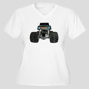 Monster Truck Coming Women's Plus Size V-Neck T-Sh