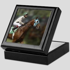 jock and horse #5 Keepsake box with tile