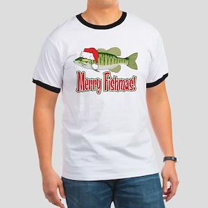 Merry Fishmas Ringer T