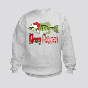 Merry Fishmas Kids Sweatshirt