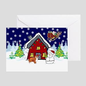 Cute Sheltie Christmas Greeting Card