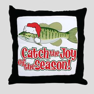 Catch The Joy Fishing Throw Pillow