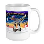 XmasSunrise/2 Border Collies Large Mug