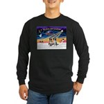 XmasSunrise/2 Border Collies Long Sleeve Dark T-Sh
