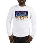 XmasSunrise/2 Border Collies Long Sleeve T-Shirt