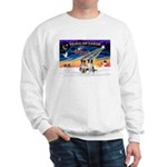 XmasSunrise/2 Border Collies Sweatshirt