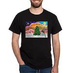 XmasMusic 2MC/Newfie Dark T-Shirt