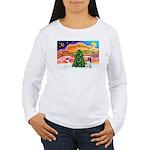 XmasMusic 2MC/Newfie Women's Long Sleeve T-Shirt