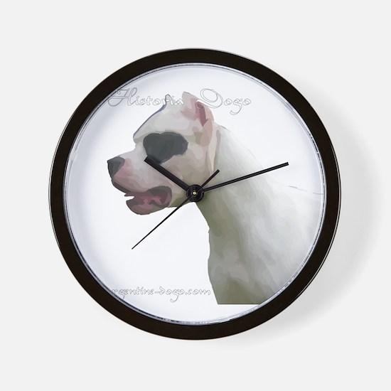 Cute Argentine mastiff Wall Clock