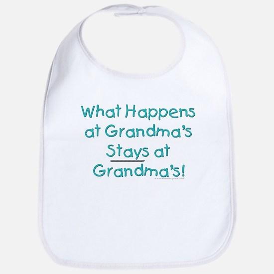 What Happens at Grandma's ... Bib