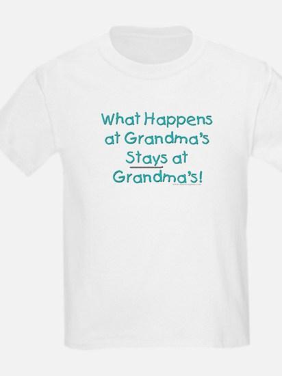 What Happens at Grandma's ... Kids T-Shirt