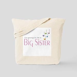 Music Notes Big Sister Tote Bag
