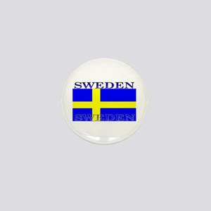 Sweden Swedish Flag Mini Button