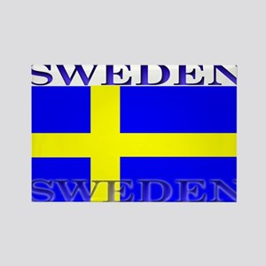 Sweden Swedish Flag Rectangle Magnet