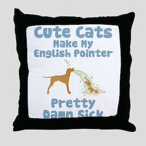 English Pointer Throw Pillow