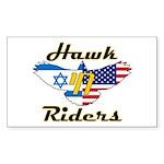 HawkChai Rectangle Sticker 10 pk)