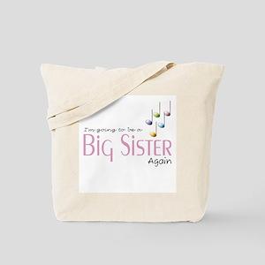 Music Notes Big Sister Again Tote Bag