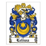 Leliwa Family Crest Small Poster