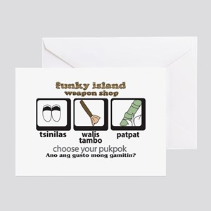 Funky Island Warrior Tagalog Greeting Cards (Packa