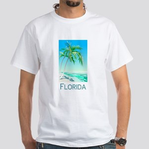 Florida Palms White T-Shirt