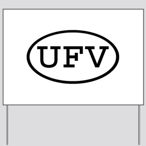 UFV Oval Yard Sign
