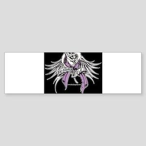Healing Art Wings on Black Bumper Sticker