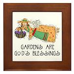 Gardens are God's Blessing Framed Tile