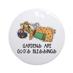 Gardens are God's Blessing Keepsake (Round)