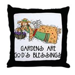 Gardens are God's Blessing Throw Pillow