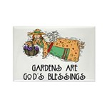 Gardens are God's Blessing Rectangle Magnet