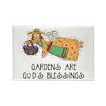 Gardens are God's Blessing Rectangle Magnet