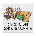 Gardens are God's Blessing Tile Coaster