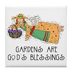 Gardens are God's Blessing Tile Coaster