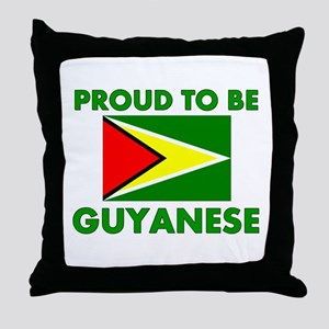Proud Guyanese Throw Pillow