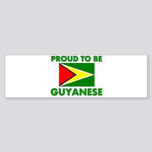 Proud Guyanese Bumper Sticker